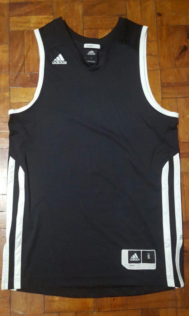 Adidas Mens Basketball Jersey Tank top Black Sando Small, Men's ...
