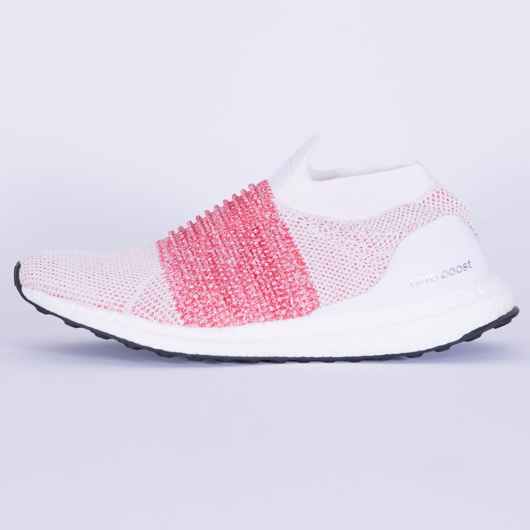 9f9cf33fb Adidas Ultraboost Laceless Ftwr White Ftwr White Trace Scarlet ...