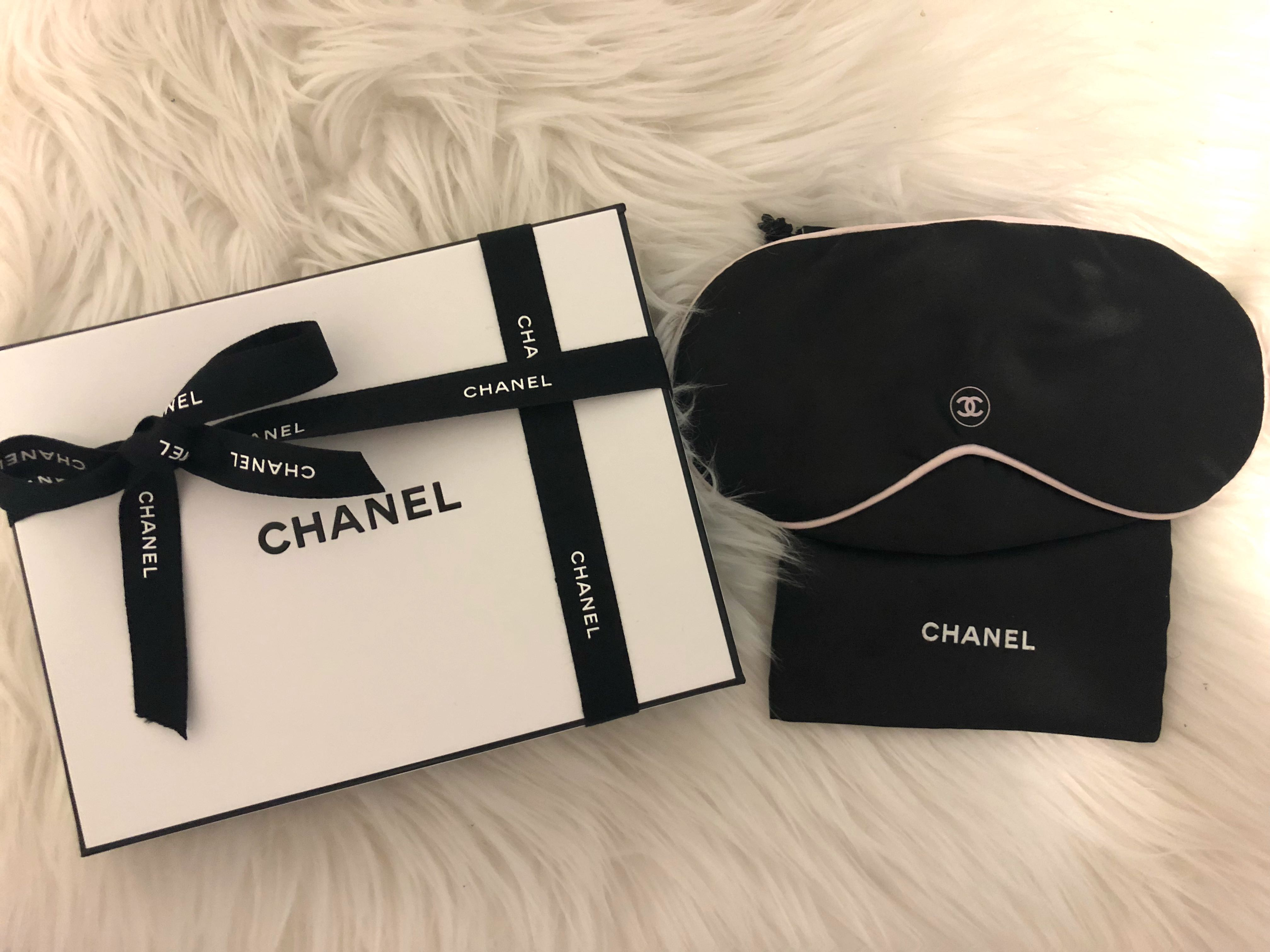 Authentic Chanel 100% Silk Sleep Mask with box