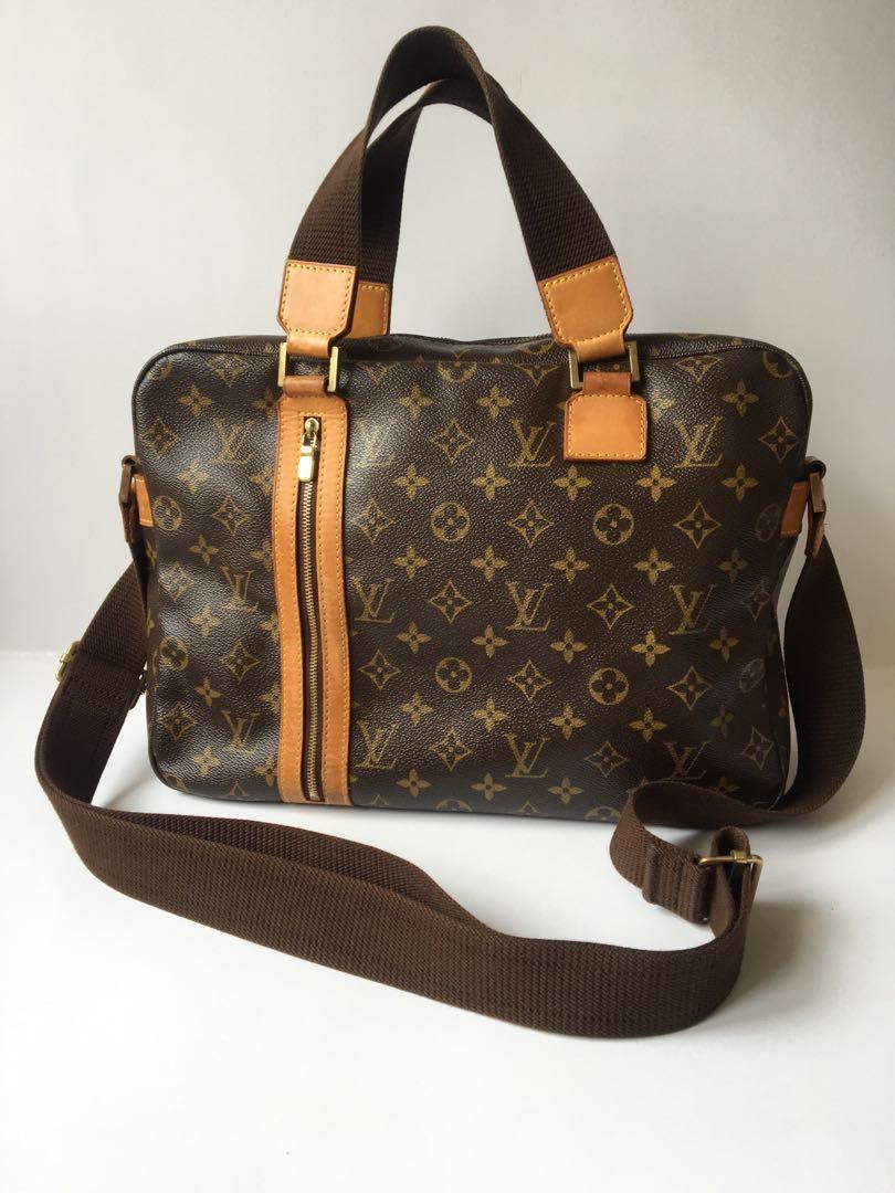 c159fd58df01d Authentic Louis Vuitton Sac Bosphore Briefcase Monogram Canvas Bag ...