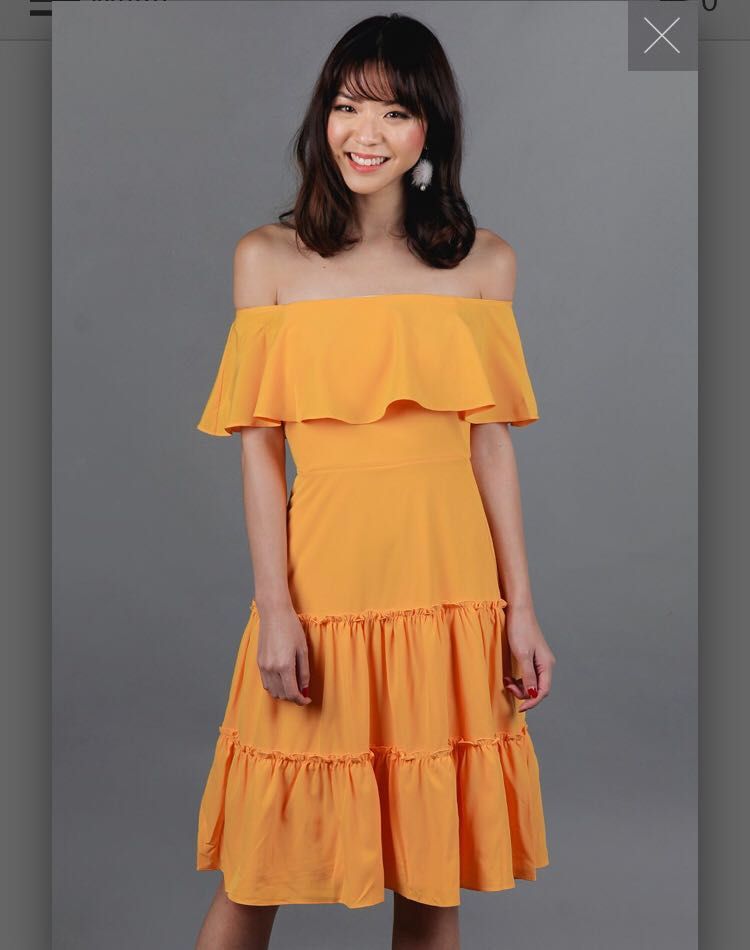 e480da951a  BNWT  The Velvet Dolls Off shoulder dress in Yellow