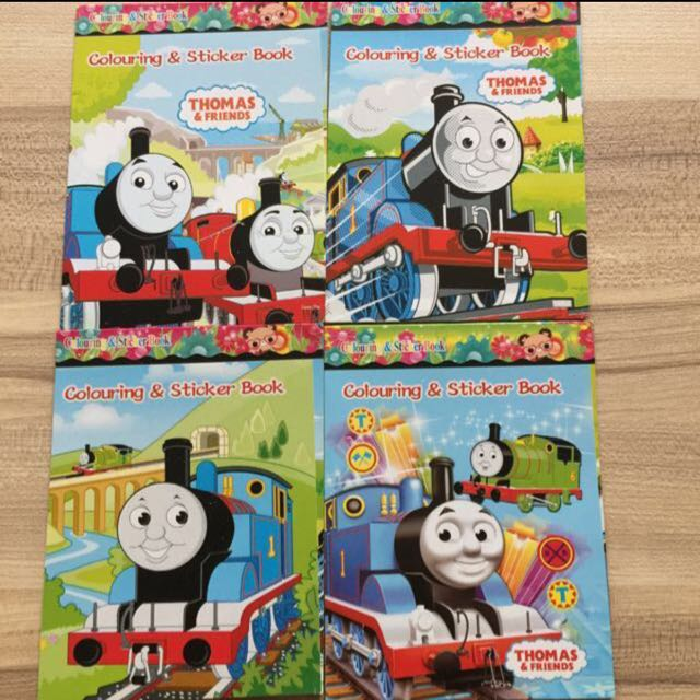 Brand New Disney Thomas & Friends Mini Colouring / Coloring Books Goodies  Bag, Babies & Kids On Carousell