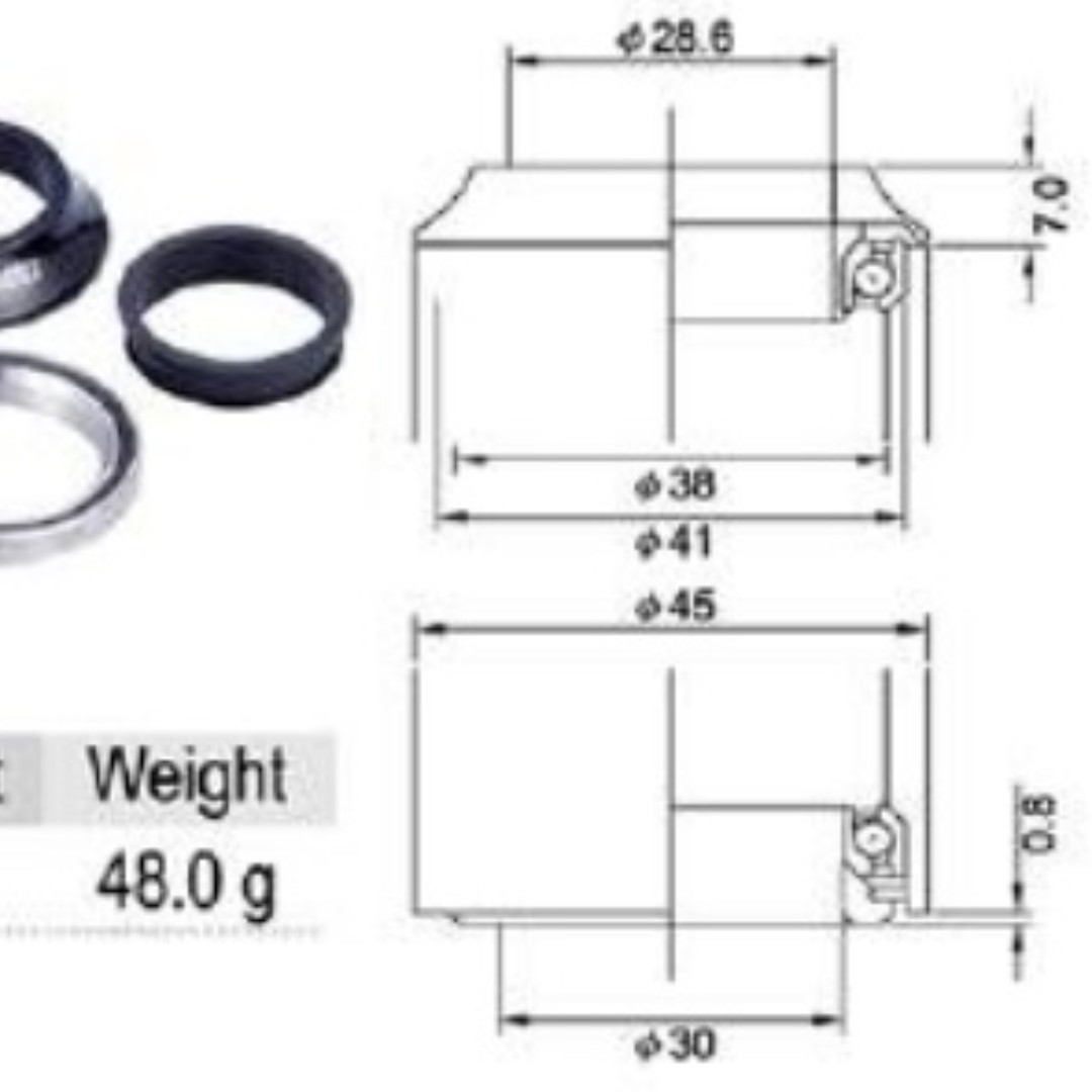 aheadset diagram cane creek is22e aheadset by tange japan  bicycles   pmds  cane creek is22e aheadset by tange