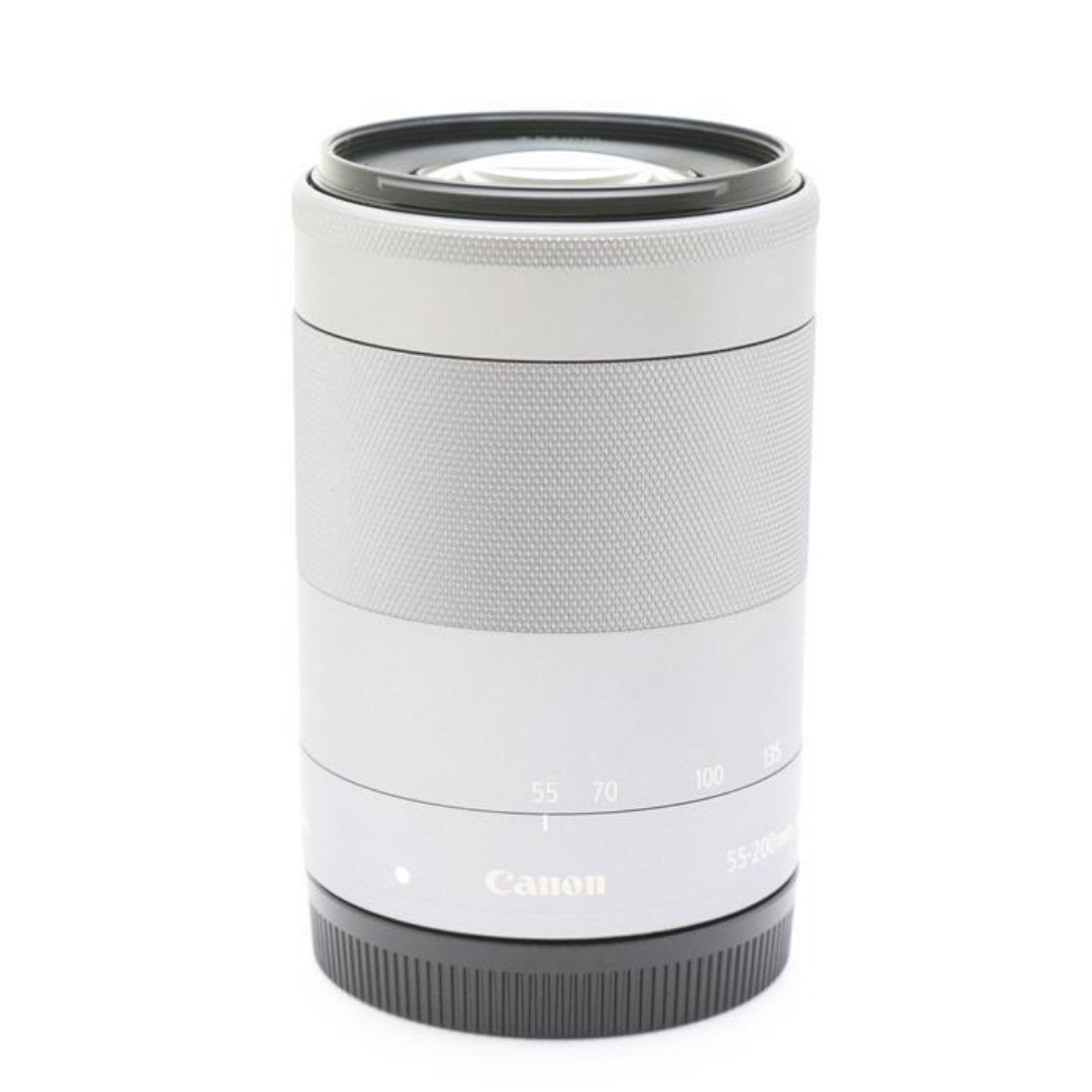 Canon EF-M55-200mm F4.5-6.3 IS STM Silver RARE ITEM(SHIP FROM JAPAN)