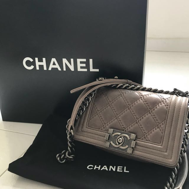 6a897c470c7e Chanel Boy Quilted Flap Bag (Small)