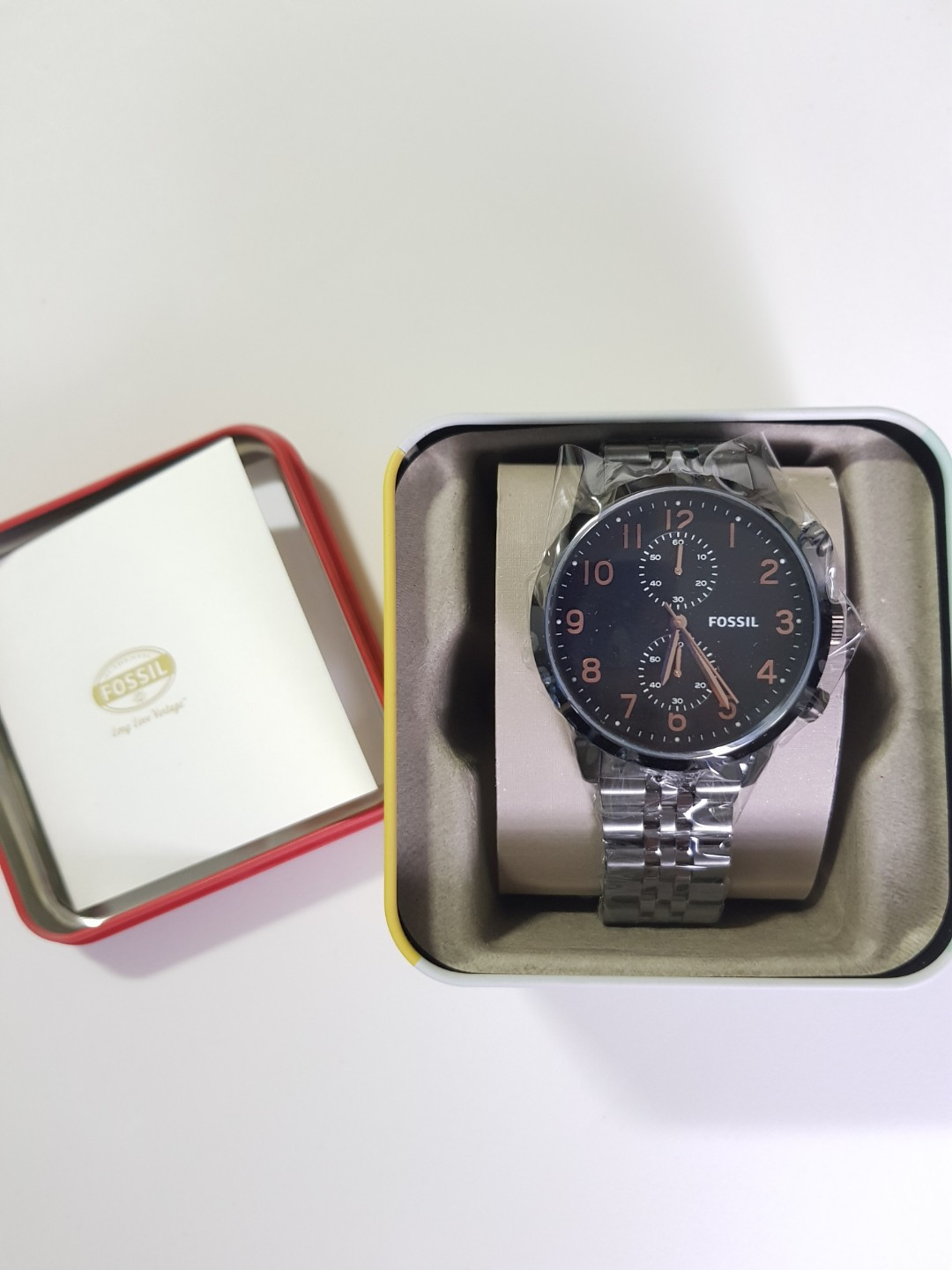 Fossil Chronograph Black Dial Smoke Free Sonic Gear Speaker Ch2600 Included Mens Fashion Watches On Carousell
