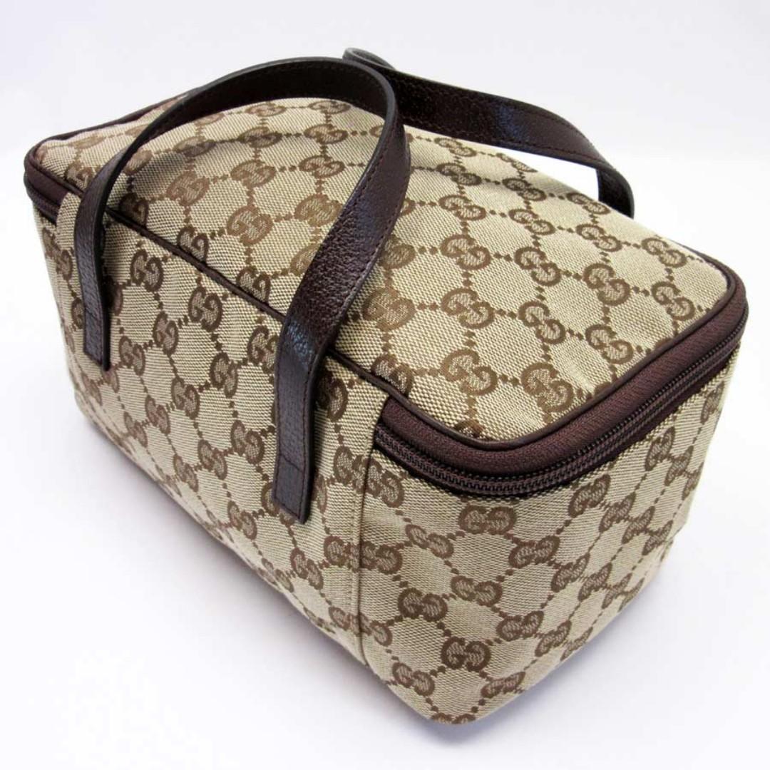 Gucci GUCCI handbag  GG beige x brown canvas LIKE NEW (SHIP FROM JAPAN)