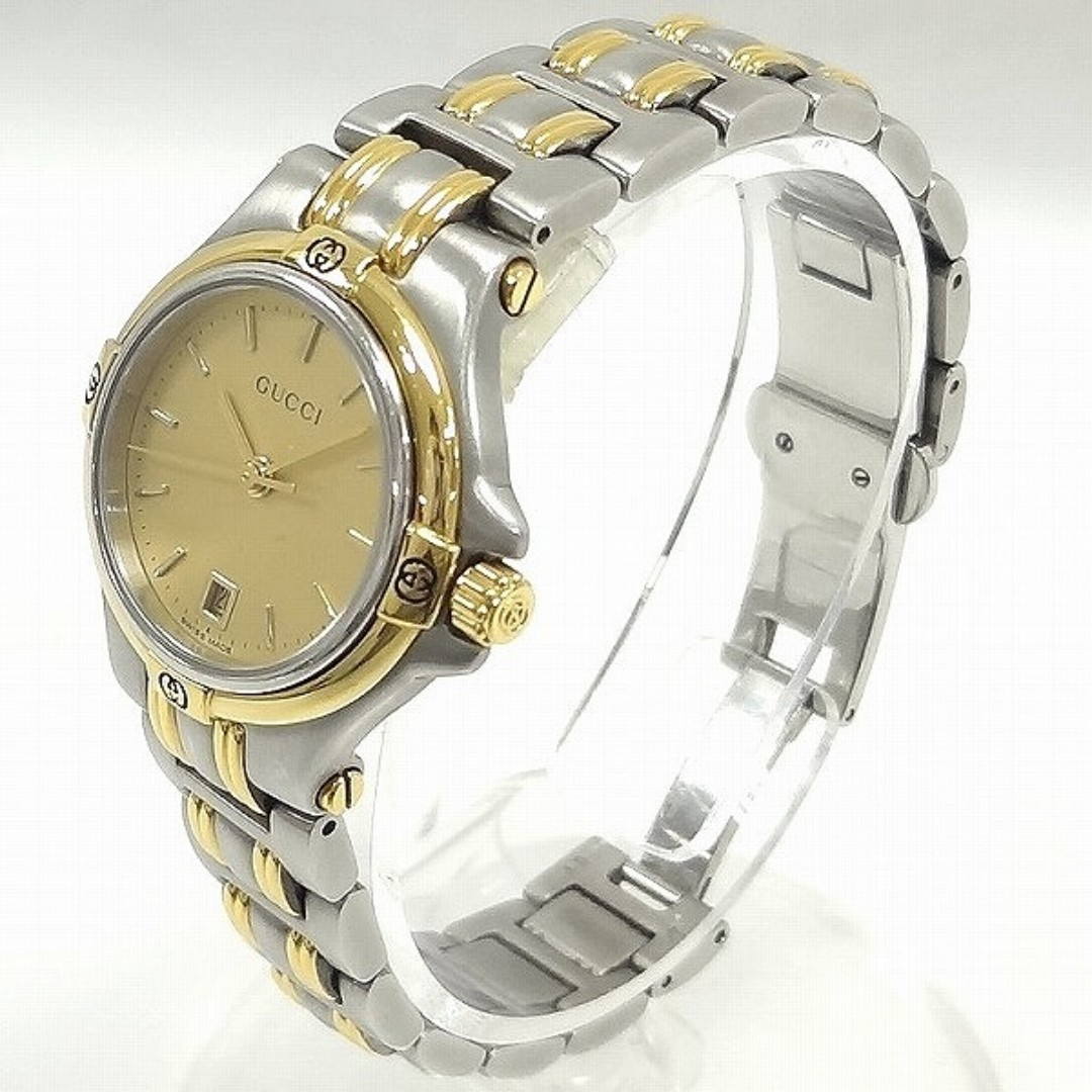 GUCCI LADY WRISTWATCH STAINLESS STEEL ELEGANT AND RARE ANTIQUE(SHIP FROM JAPAN)