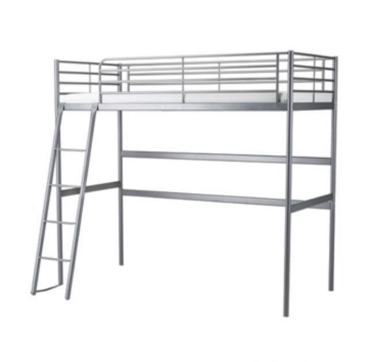Ikea Queen Size Loft Bed In WhIte + Dismantling + Delivery ...