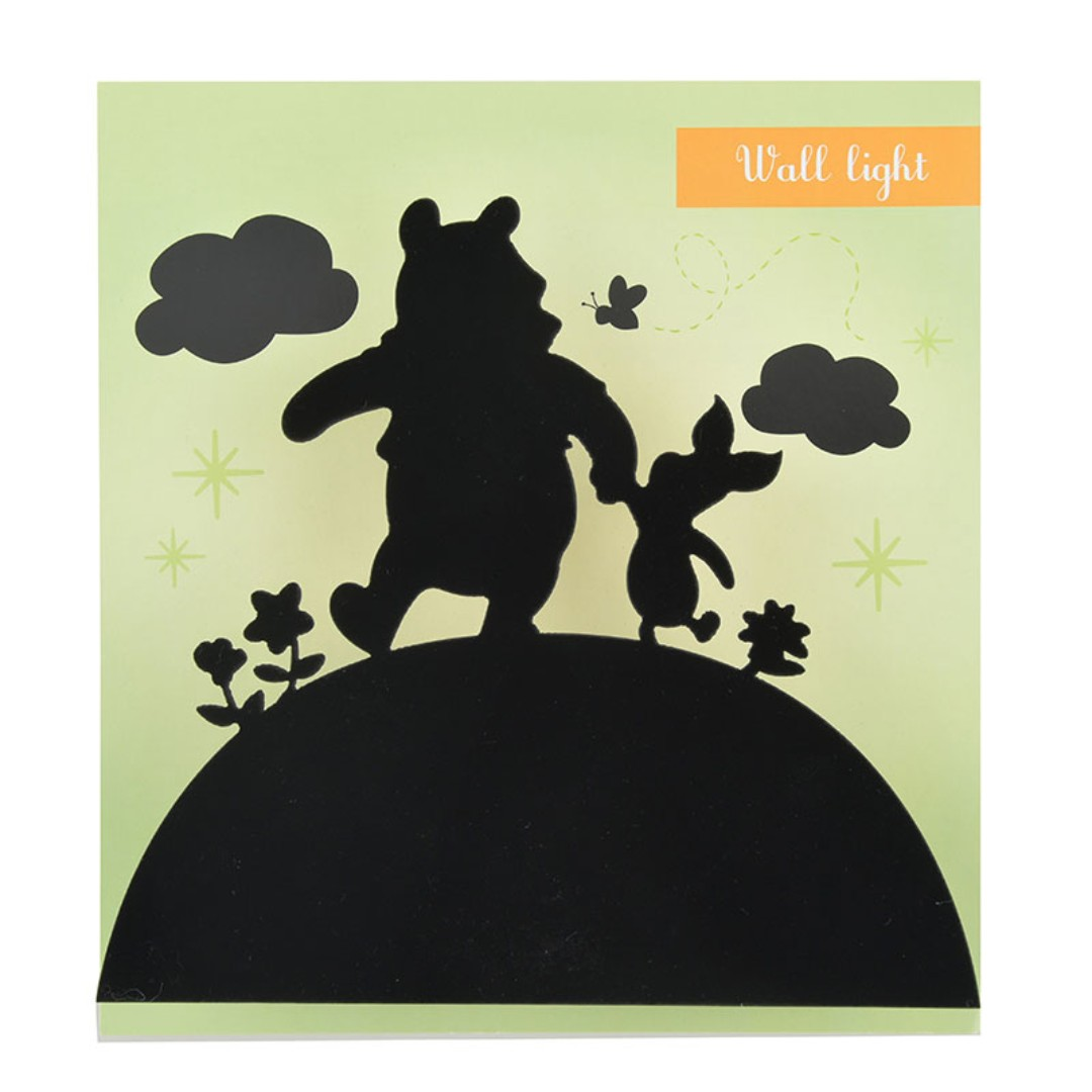 Japan Disneystore Disney Store Pooh & Piglet Silhouette Wall Light ...