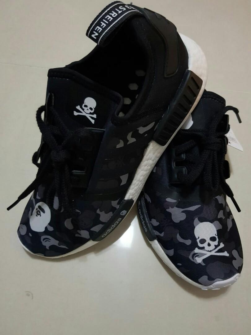 on sale 3b1d6 41c53 Limited Ed Adidas NMD XR1 x A Bathing Ape x Mastermind Japan ...