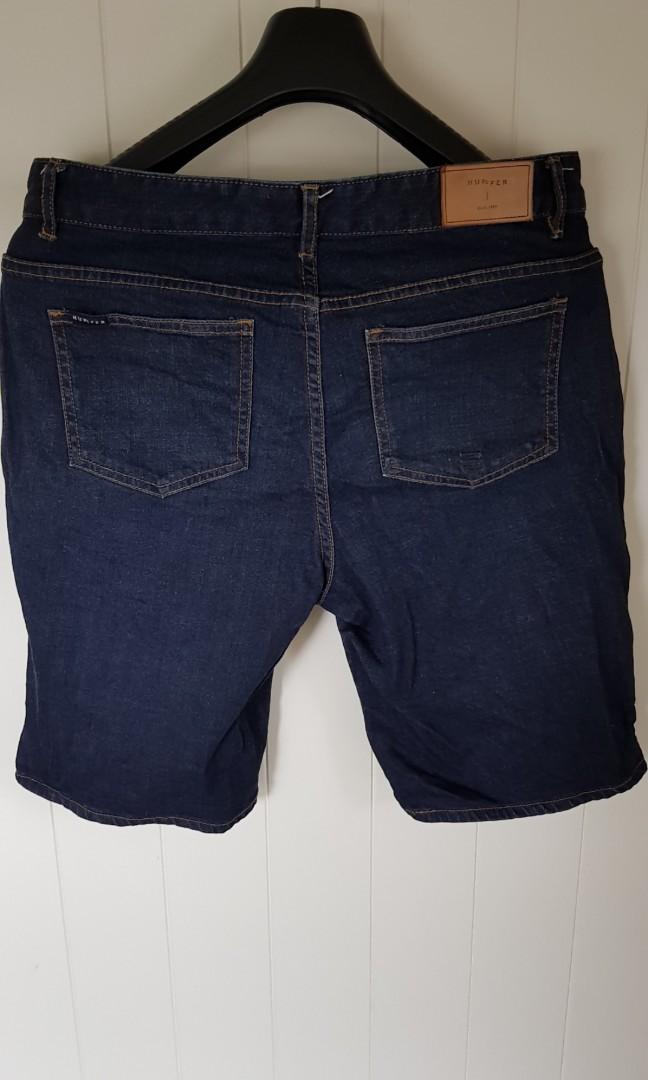 Mens Huffer Denim Shorts