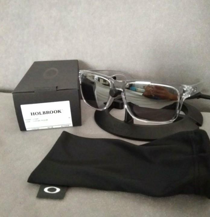 2718deb375 Oakley holbrook clear frame chrome iridium Lens
