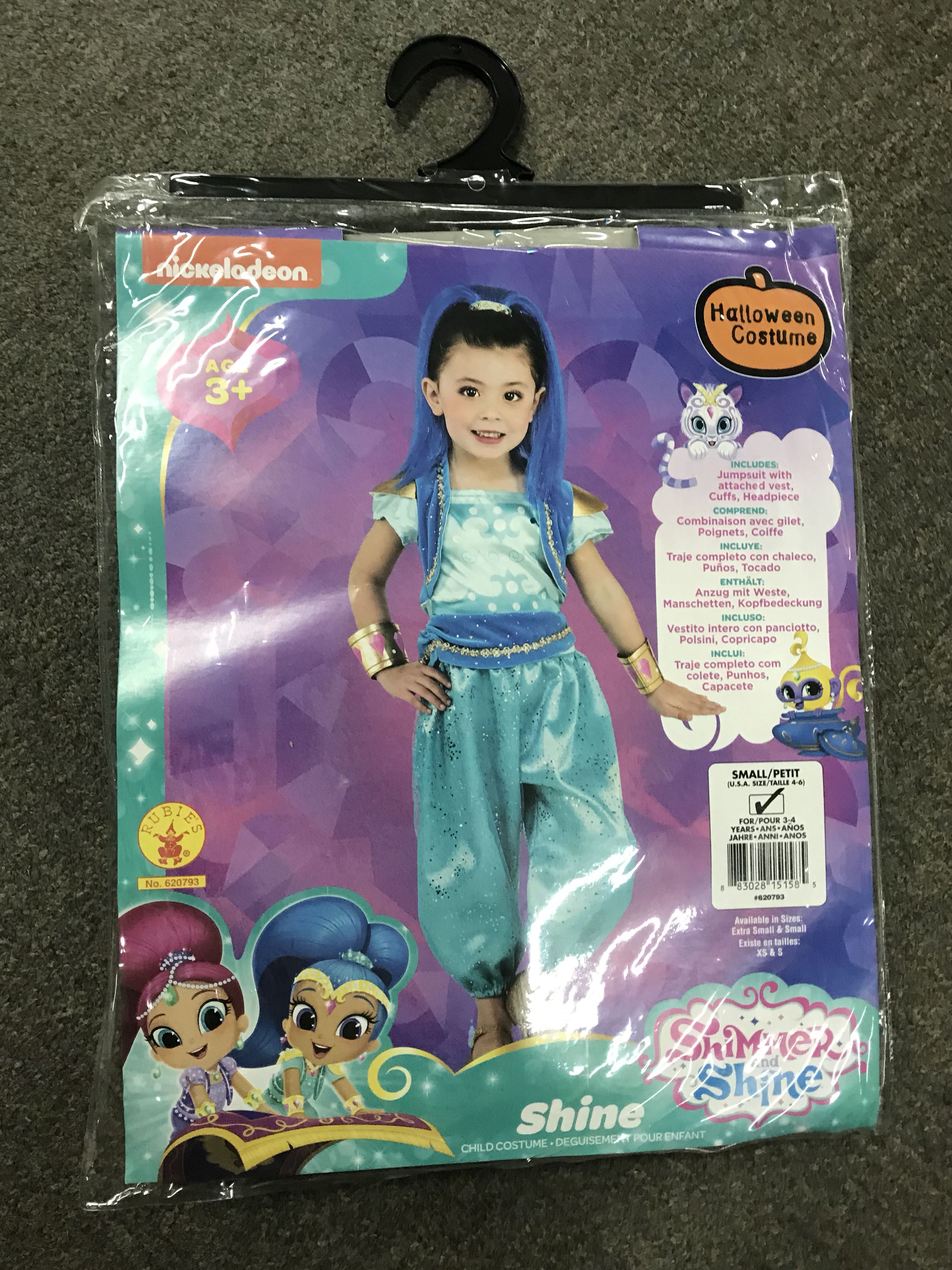 SHIMMER AND SHINE CHILD COSTUME PURPLE SHIMMER GIRL/'S SIZE RUBIE/'S NEW SMALL