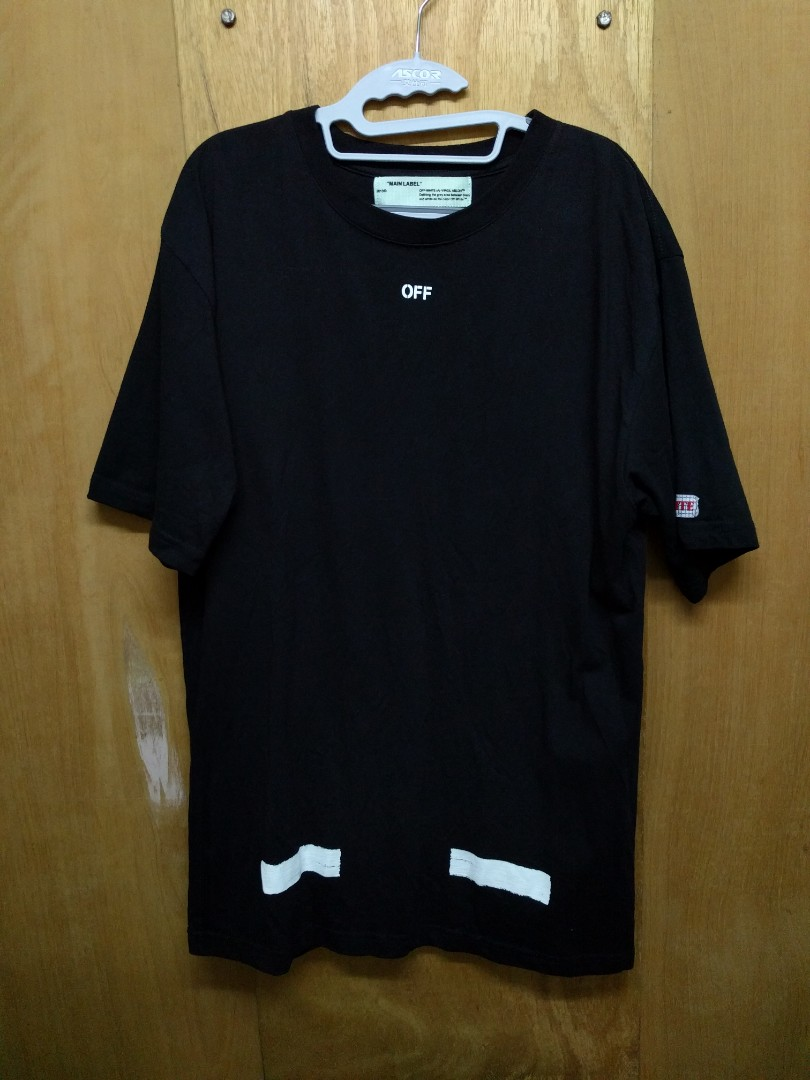 97f88201 Off-White 17ss Seeing Things Diagonal T-shirt (Size M), Men's Fashion,  Clothes on Carousell