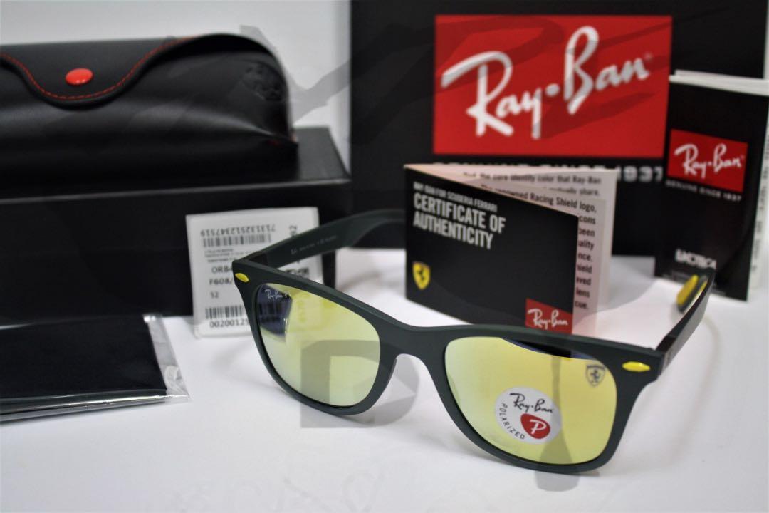 6d8bca3e3a16 ... sale original ray ban wayfarer liteforce ferrari scuderia rb4195 f608  6b 52mm mens fashion accessories eyewear
