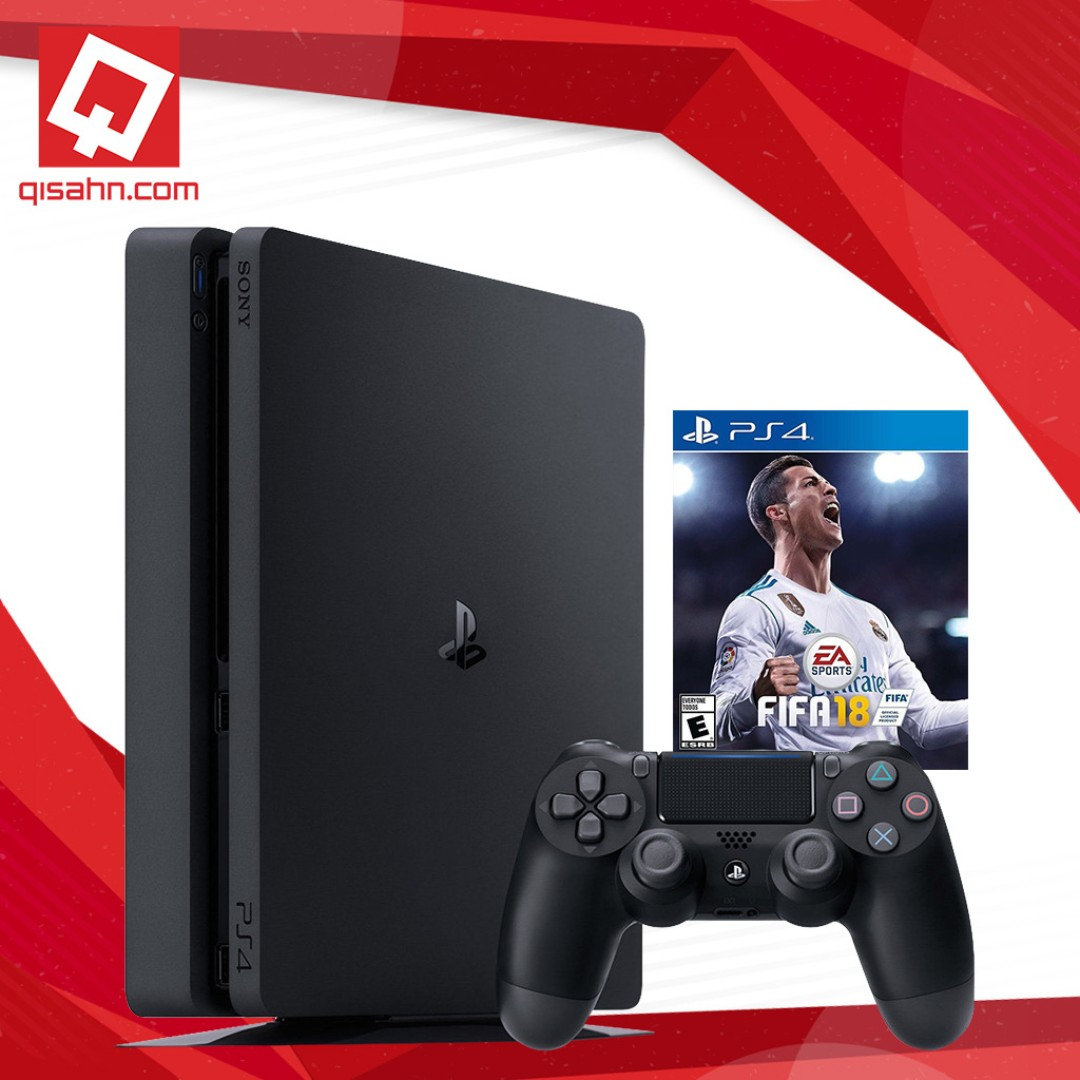 Playstation 4 Slim PS4 FIFA 18 Bundle (Firmware 5 03, Upgradable to 5 05)