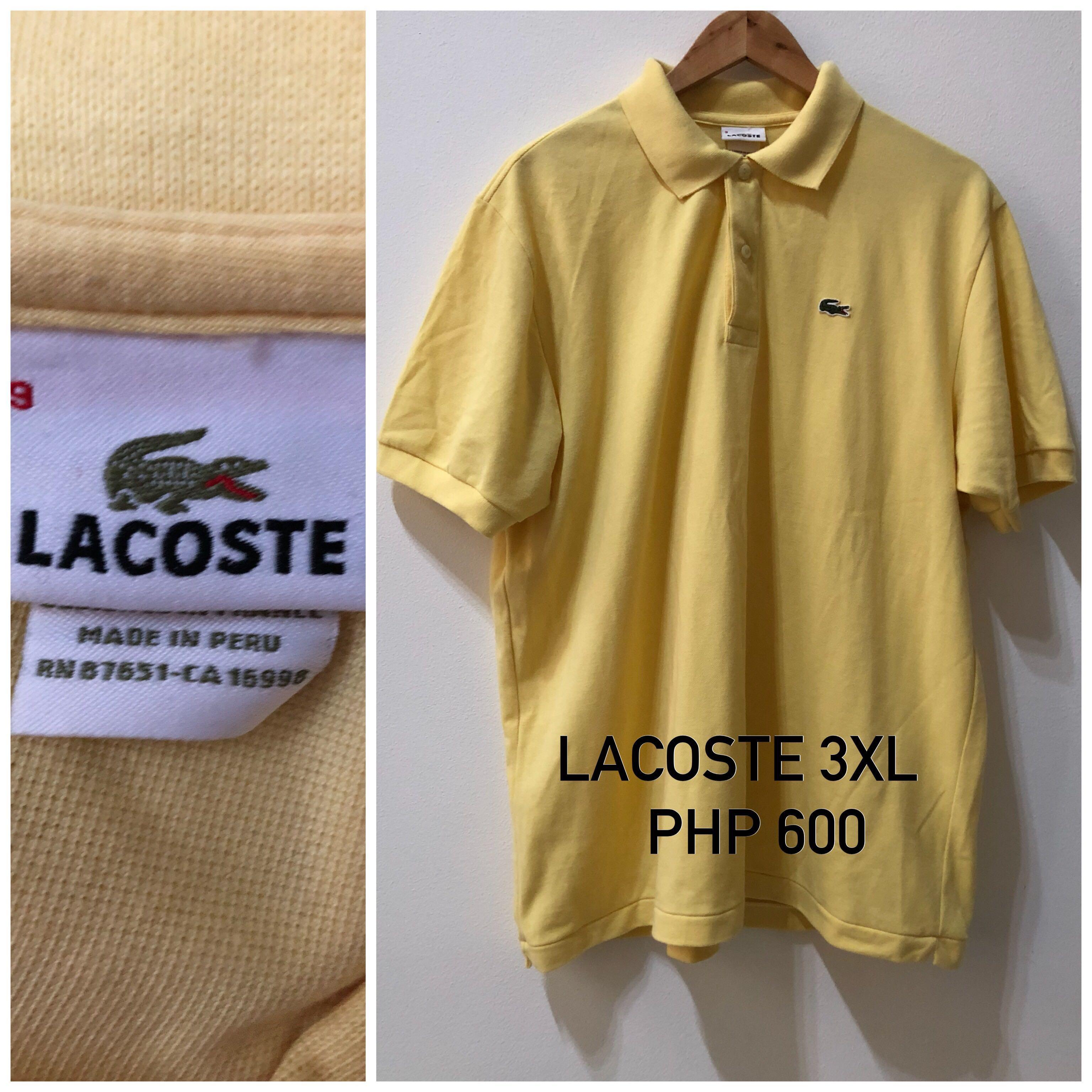 ea4241de76f0f lacoste polo shirt big plussize size 11 mens fashion clothes on ...