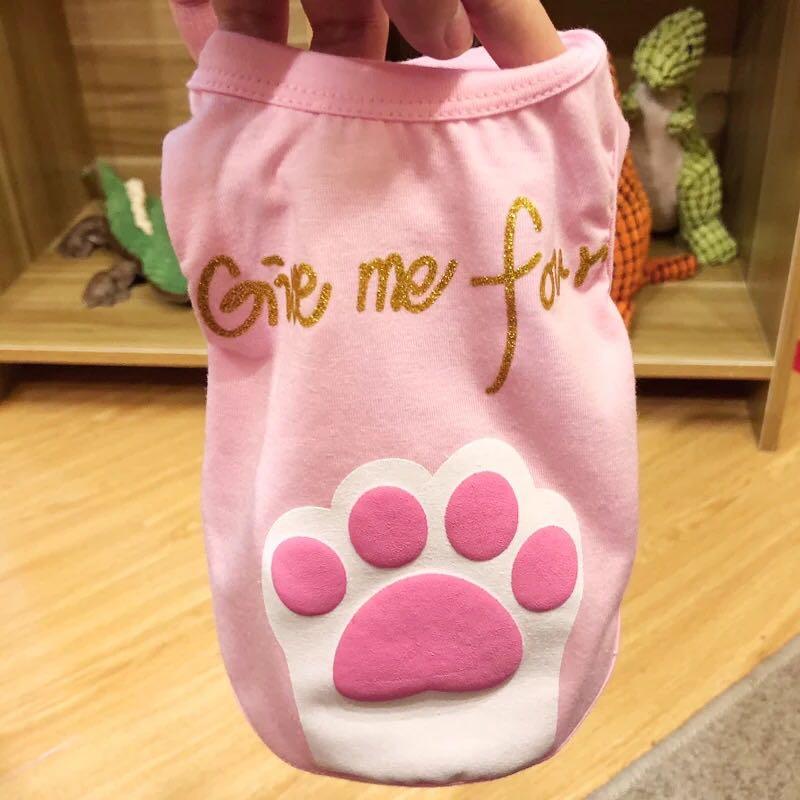 "(PO)2018 Pets Fashion Clothing Cute T Shirt ""Give me Four"""