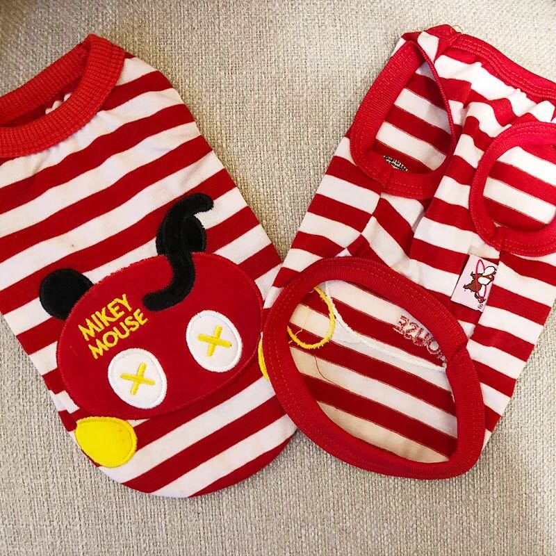 """(PO) Mickey & Minnie Mouse Adorable Pets Clothing Singlet Top *Limited Stocks"""""""