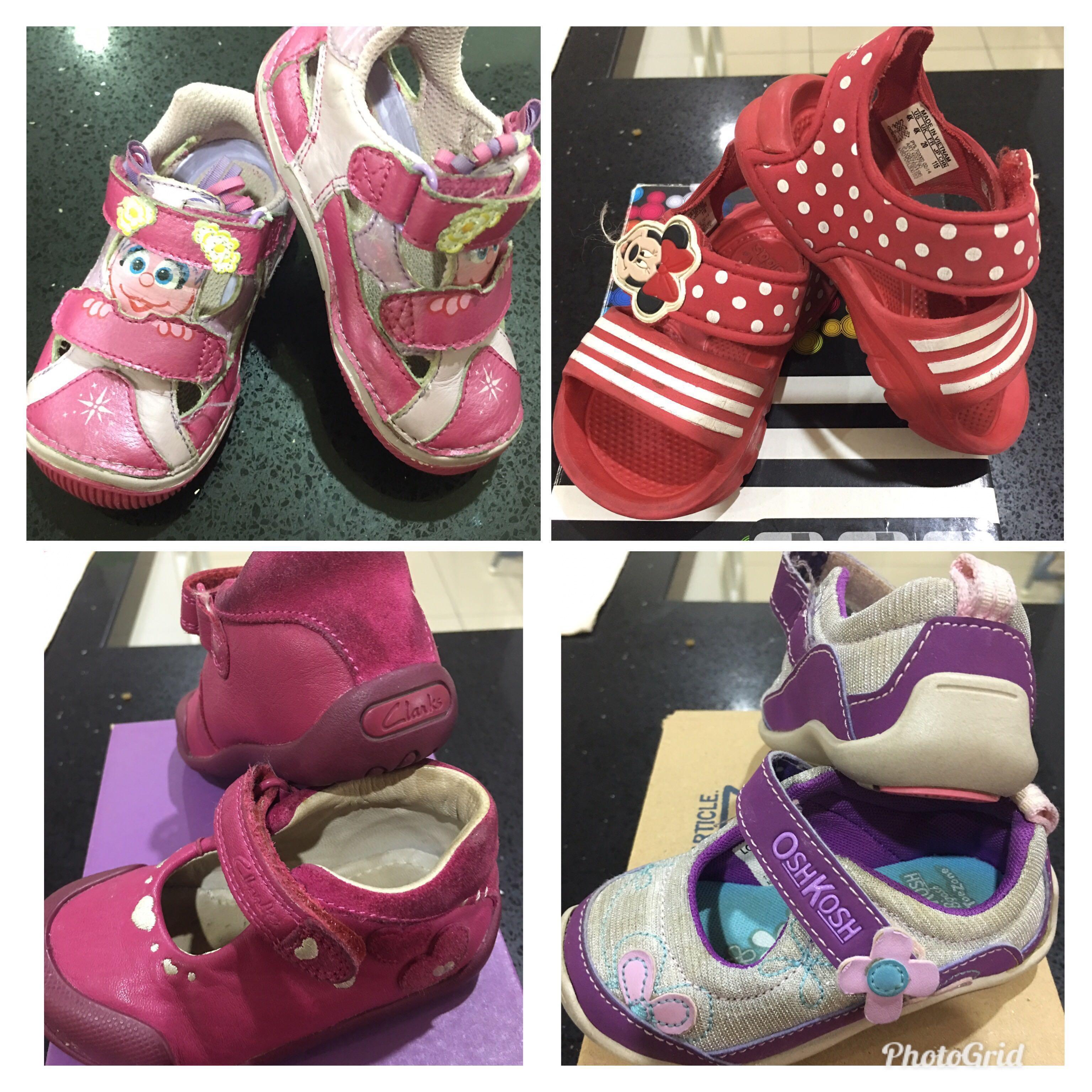 Preloved BabyGirl Shoe Stride Rite Clarks Adidas OshKosh only