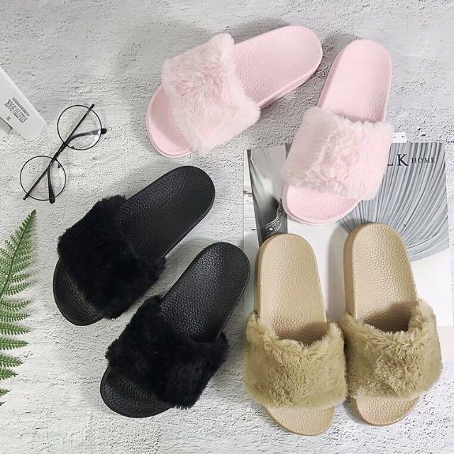 b86f04cc8594 Puma Fenty Sandal Inspired Fluffy Slippers