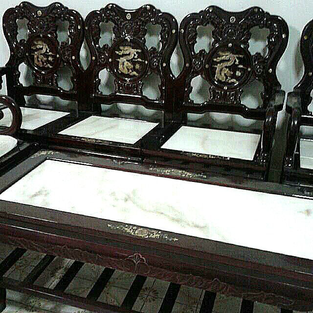 Dragon Sofa Full Set Furniture Home Decor Antiques On Carousell