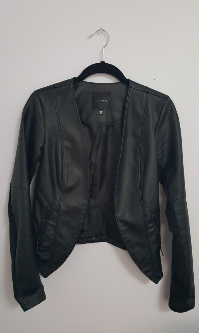Size XS dynamite leather jacket