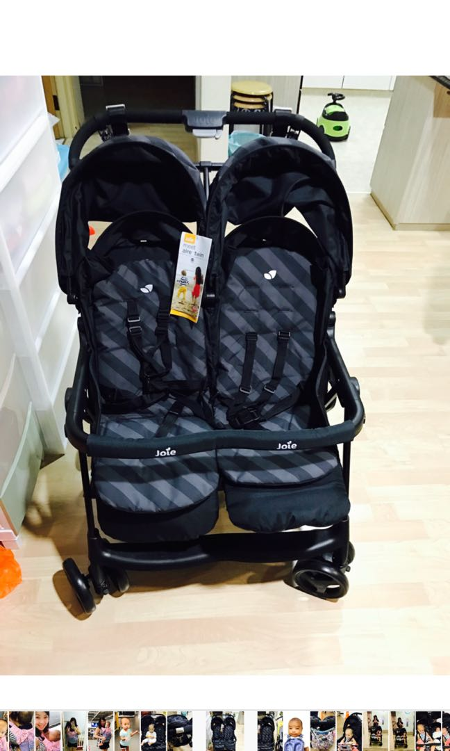 twin stroller  joie aire twin stroller in black grey stripes 1524561194 ba8c4a44