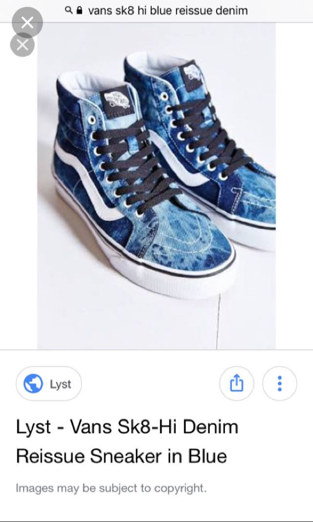 810bef4bad Vans Sk8-Hi Denim Reissue in Blue (USED TWICE ONLY)