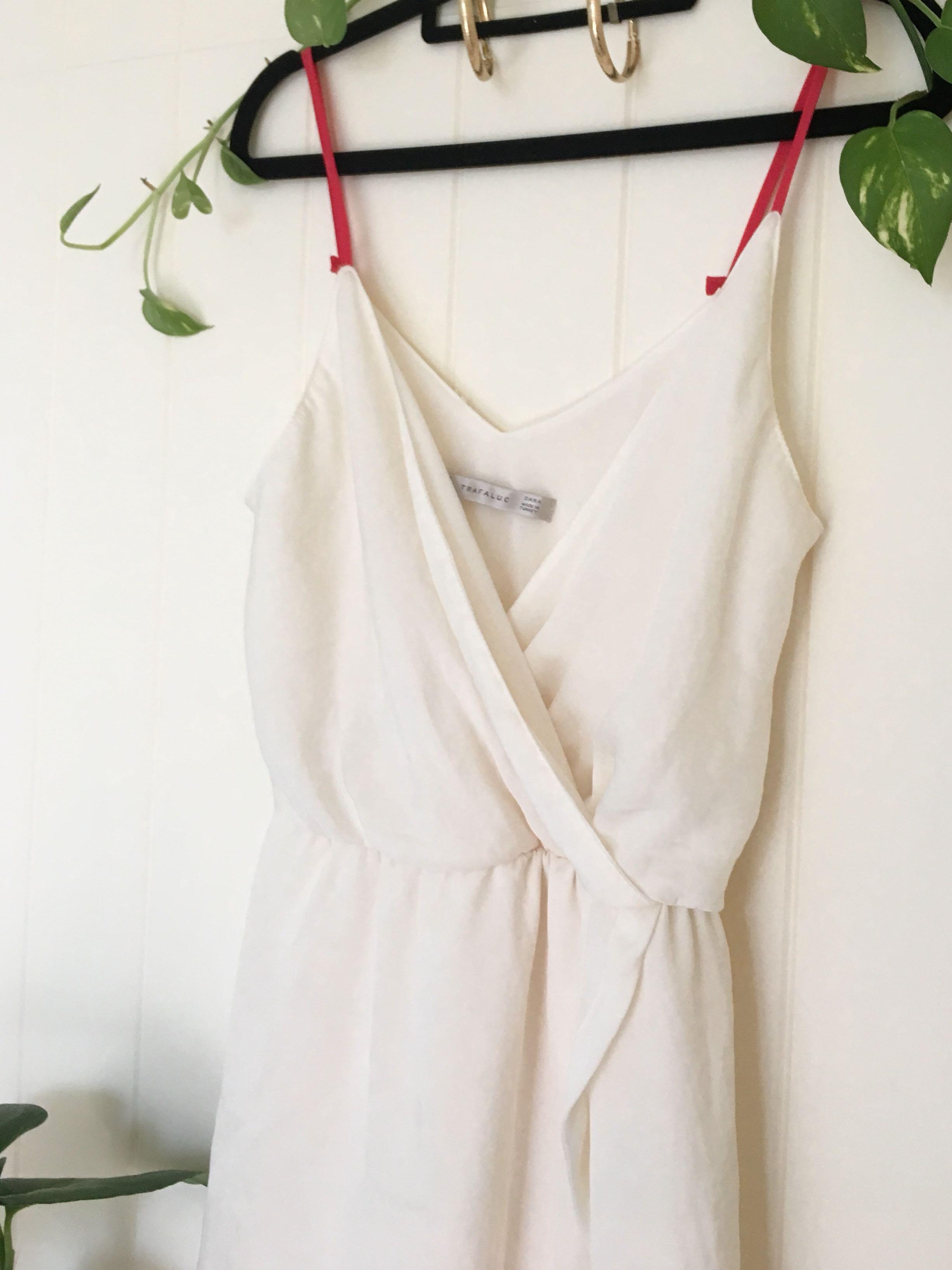 🐚White Wrap Dress