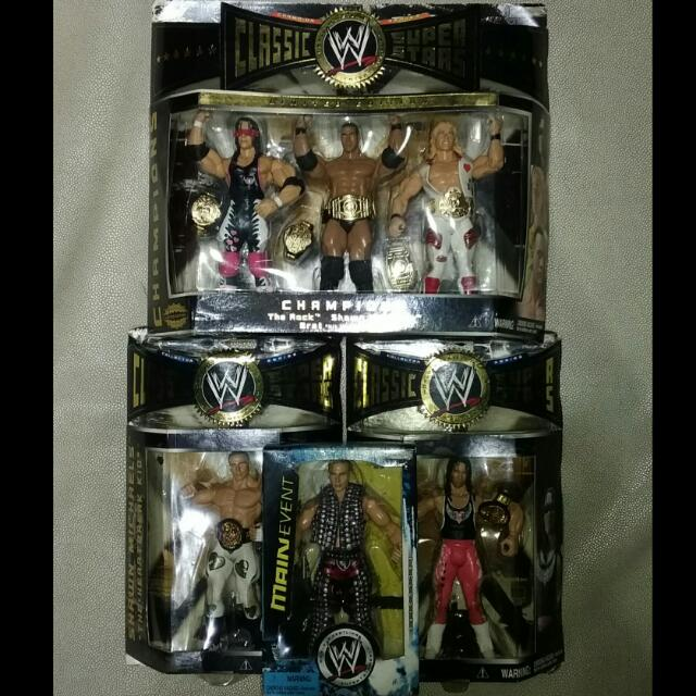 WWE - WWF Shawn Michaels, Bret Hart, Rock Limited Edition Toys