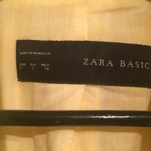Zara ladies blazer-small, yellow
