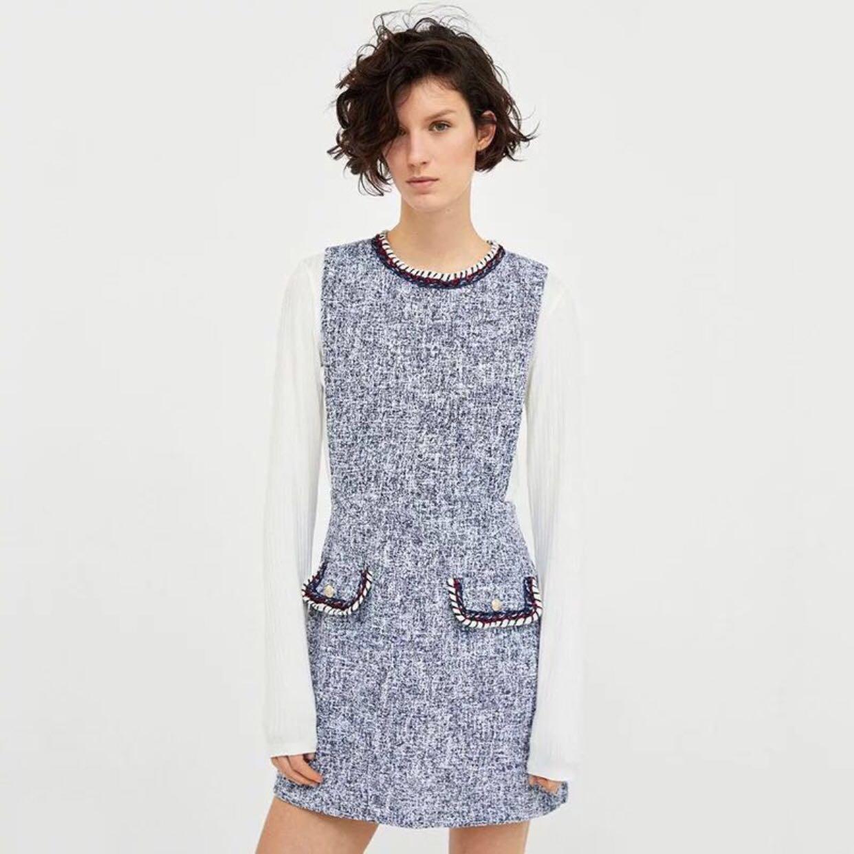 6eab4e39ef Zara Pinafore Dress Size S