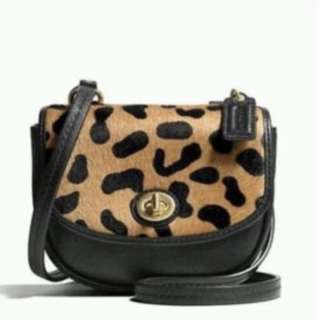 BNWT Coach Park Ocelot mini crossbody