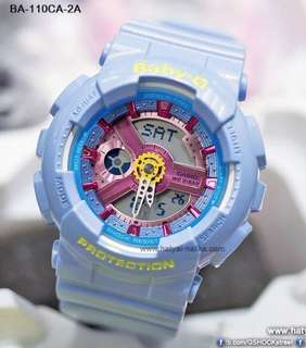 RARE🌟SEEN CASIO BABYG DIVER WATCH : 1-YEAR OFFICIAL WARRANTY: 109% Originally Authentic Baby-G Shock Resistant In GLOSSY Sea Blue with Rainbow Surface Colours ABSOLUTELY TOUGHNESS Best For Most Rough Users : BA-110CA-2ADR / BA-110 / BA110