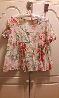 Maternity Floral Crop Top size M