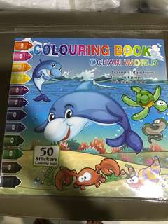 Colouring Book with Stickers
