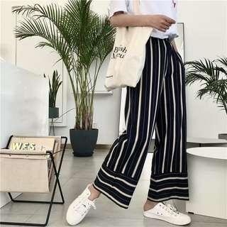 [PO] Nyssa Striped Flare Pants