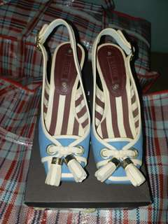 Celine 藍色抽踭高跟鞋