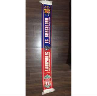 LFC vs Barcelona Champions League 2007 Scarf