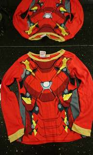 鋼鐵人Marvel iron man 紅色長袖t-shirt