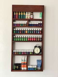 Handmade Wall rack for young living essential oils