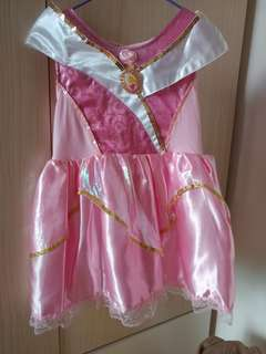 正版迪士尼公主裙 (3-4歲) Genuine Disney Princess Dress (3-4 yrs old)