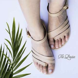 Pre-loved cream sandals used once only