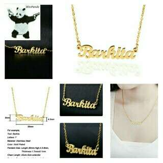 🆒🆕 Name Necklace Gold Color Stainless Steel Personalized Custom Necklaces For Gift Nameplate Pendant Choker