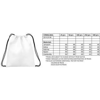 Whilesale Small Drawstring Bag MTO