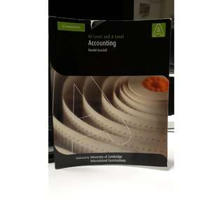 AS Level and A Level Accounting Cambridge University Press