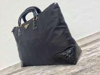 Authentic Prada Microfibre Document Bag