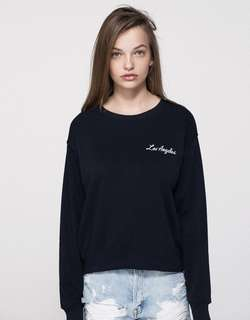 Pull&Bear Embroidered Sweatshirt - Los Angeles